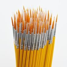 10 teile/satz Lange schwanz nylonhair haken linie stift malerei pinsel kinder DIY kunst liefert werkzeug Kunst Schreibwaren aquarell malerei stift