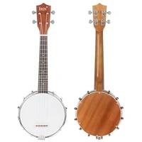 4 strings banjo ukulele concert sapele 4 strings banjolele beginners musical instrument gift rosewood fingerboard banjo with bag