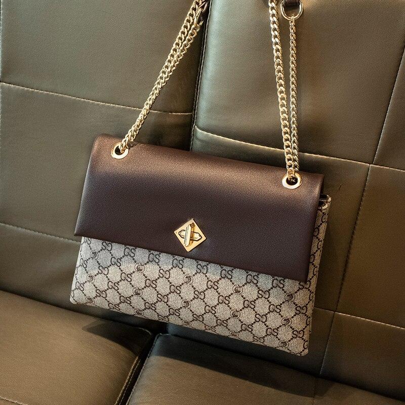 حقائب يد ومحافظ نسائية عصرية عالية الجودة موضة 2021 حقيبة كتف بسلسلة متقاطعة حقيبة فاخرة بتصميم رفرف Gg Cc