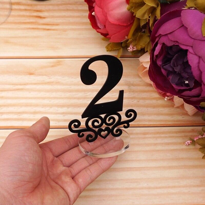Número 1-10/1-20 números de mesa con Soporte redondo, Base para restaurante, boda, despedida de soltera, decoración de fiesta