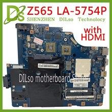 KEFU LA-5754P carte mère pour Lenovo G565 Z565 carte mère dordinateur portable Z565 carte mère avec carte mère de Test de type HDMI