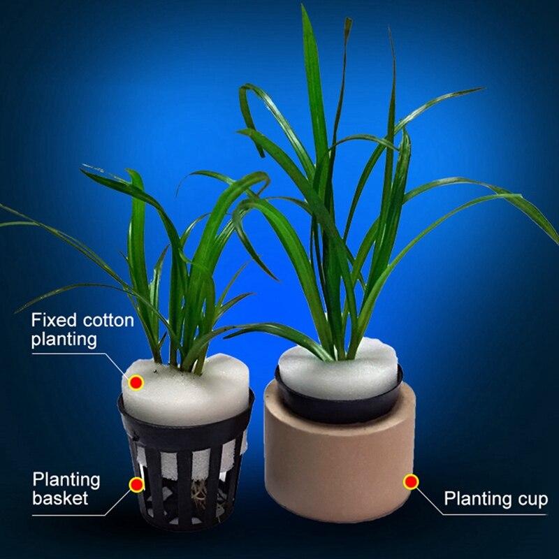 10 unids/set acuario acuático agua planta hierba cultivo plantación Pot cestas