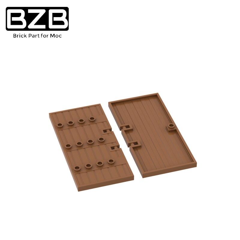 BZB MOC 87601 4x10 Заборная дверь креативная высокотехнологичная модель строительных блоков Детские игрушки для мальчиков DIY кирпичные детали луч...