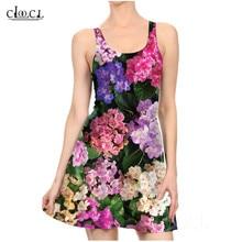Fleur Violet Sexy femmes robes impression 3D robe plissée décontracté serré dames robes colorées petites fleurs florales robe de soirée