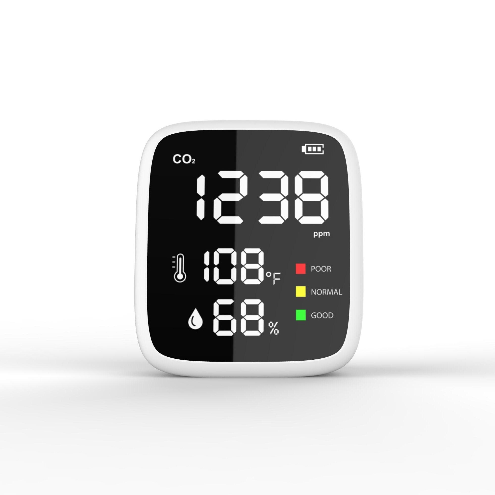 المحمولة CO2 درجة الحرارة جهاز مراقبة الرطوبة مراقبة جودة الهواء الأشعة تحت الحمراء nder للكشف عن أدوات الكشف في الأماكن المغلقة في الهواء الطل...