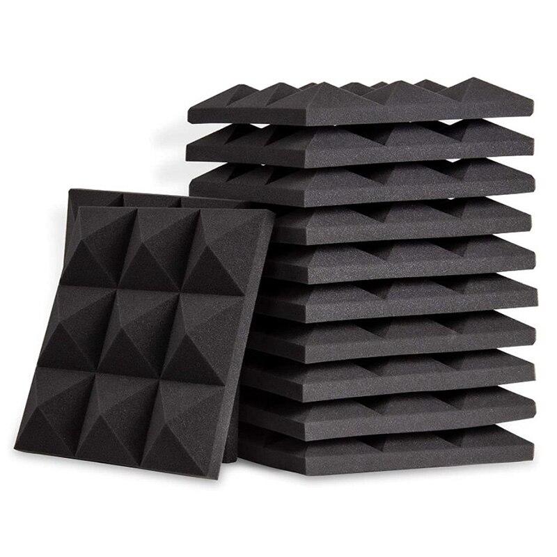 12 قطعة ألواح فوم صوتية ، الهرم تسجيل استوديو إسفين البلاط ، مناسبة للجدار و زينة للسقف ، 5X 30X 30 سنتيمتر