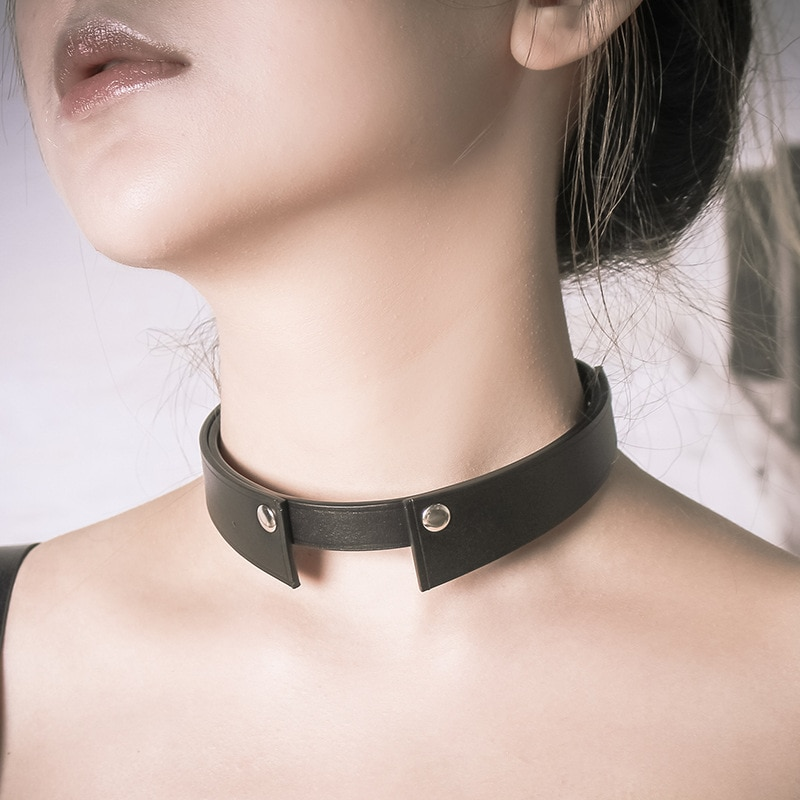 sm Women's leather collar cowhide clavicle chain female collar style simple fashion jewelry necklace  cosplay accessories korea new clavicle chain necklace lace clavicle chain necklace female collar wholesale