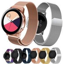 22Mm Horloge Band Gear S3 Frontier Voor Samsung Galaxy Horloge 46Mm Actieve 2 42Mm Milanese Loop Armband samsung Actieve 2 20Mm Strap