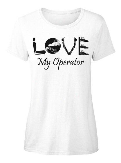 Эксклюзивно от предыдущих ПОКУПАТЕЛЕЙ-Мне нравится мой оператор, стандартная женская футболка