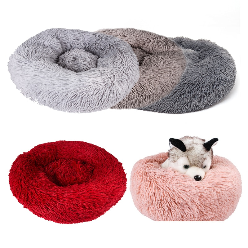 Suave cama mullida para perro, lavable, perrera larga de felpa, cama de terciopelo para mascotas, sofá para perro Chihuahua, cesta para perro, cama para mascota
