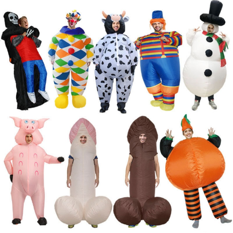 Inflatable Costumes Stage performance props Costume Ghost Snowman Clown Cosplay Costume Dress Halloween Party Carnival Suit christms decoration inflatable clown