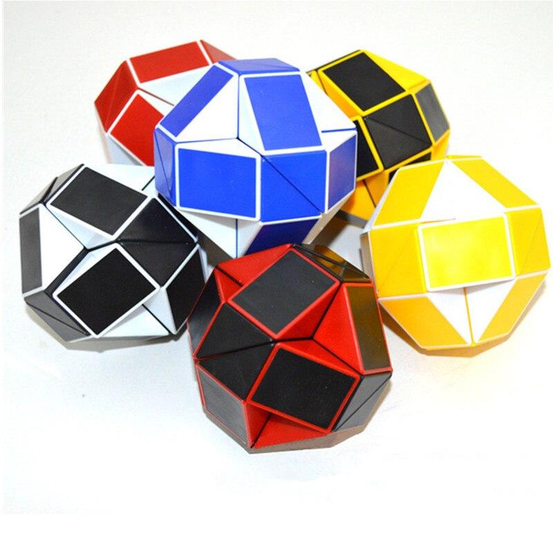 Sengso Магическая Змея Куб секция 24 линейки кубики головоломка скоростные кубики антистресс обучающие игрушки для детей