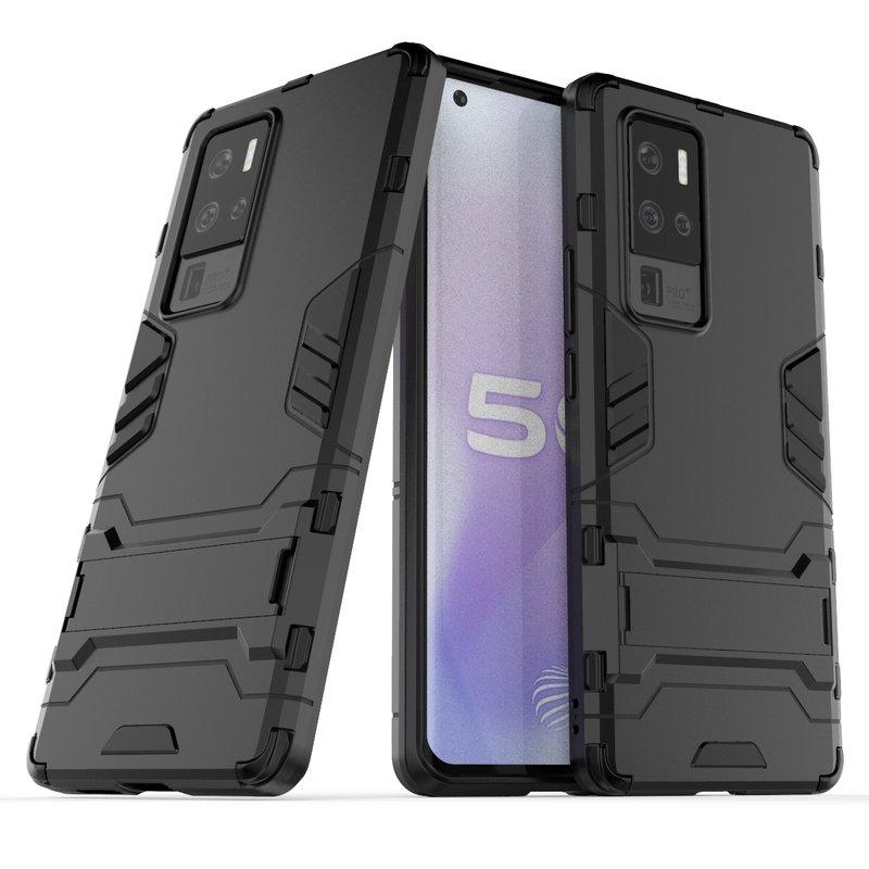 Funda de teléfono a prueba de golpes para Vivo X50 Pro Plus, funda trasera con anillo magnético de Metal para Vivo IQOO Z1X Armor, Fundas protectoras pesadas