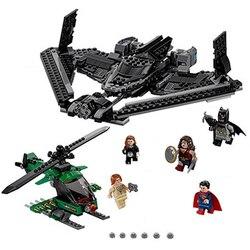 Batman carro super heróis da justiça céu alta batalha superman blocos de construção marvel modelo brinquedos compatíveis lepinings