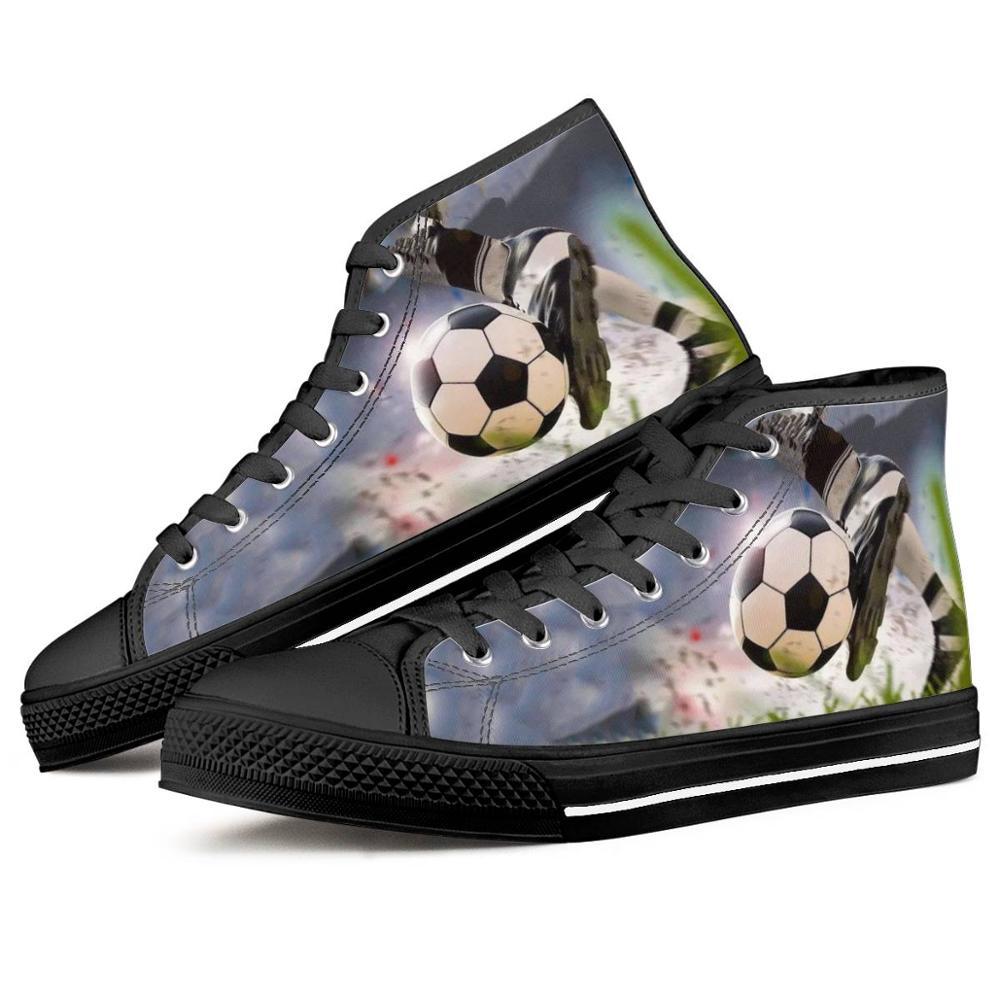 Мужская Вулканизированная обувь с логотипом футбольной команды; Парусиновая обувь с высоким берцем; Удобная обувь на плоской подошве на шн...