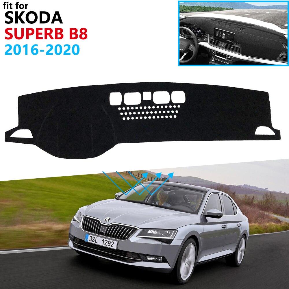 Dashboard Cover Schützende Pad für Skoda Superb 3 B8 3V 2016 2017 2018 2019 2020 MK3 Auto Zubehör Dash board Sonnenschirm Teppich