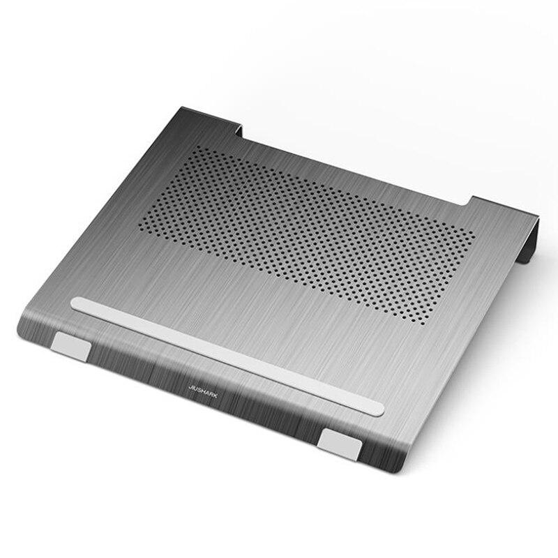 JIUSHARK-حامل تبريد لأجهزة الكمبيوتر المحمول ، وإضاءة RGB ومروحة لأجهزة الكمبيوتر المحمول من 13 إلى 17.3 بوصة ، رمادي