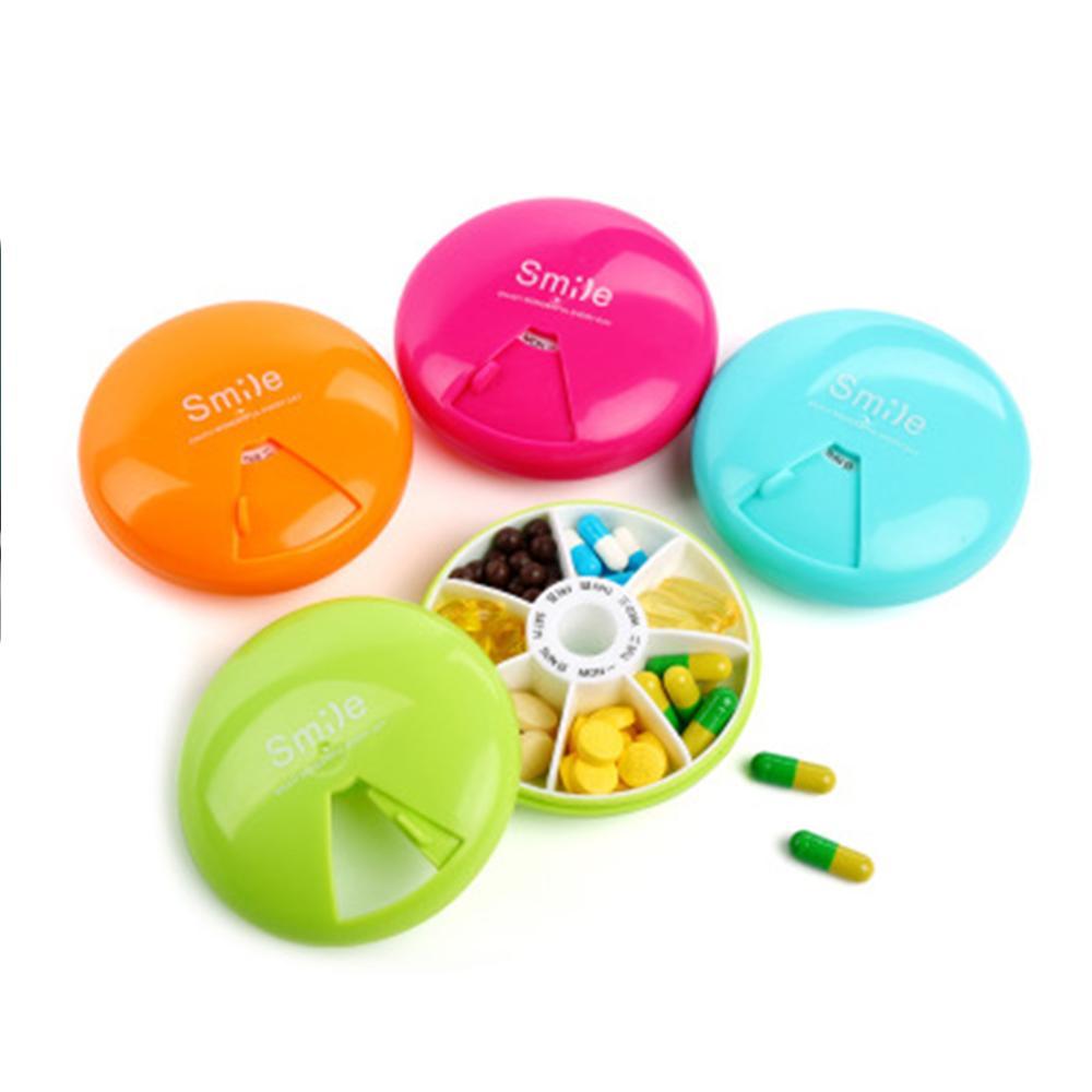 7 Days Pill Case Cute Travel Pill Box Pill Organizer Case Weekly Medicine Organizer Pills Storage Bo