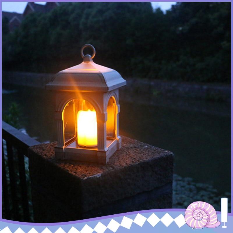Luces LED de energía Solar, iluminación de vela, luz Solar, lámpara de jardín para césped, Terraza y jardín al aire libre, lámparas de decoración/luz de entrenador