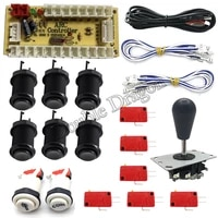 1 set for 2 players zero delay mando arcade usb encoder to diy kit joystick push buttons cables arcade game