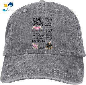Kane Brown Retro Sports Denim Cap Adjustable Snapback Casquettes Unisex Plain Baseball Cowboy Hat Red