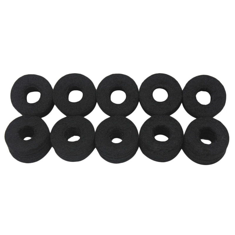 Juego de 10 Uds de almohadillas de fieltro de platillo de tambor piezas de algodón instrumentos de percusión accesorios de protección