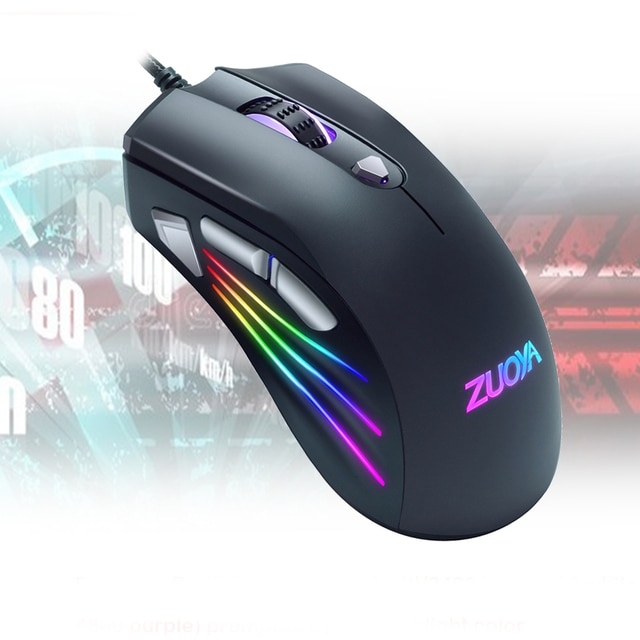 Original Wired RGB Gaming Mouse Optical Gamer Mice Adjustable DPI With Backlight For Laptop Computer PC Professional Game 6