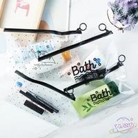 small large clear pvcwaterproof makeup bag case travel bath wash pouch storage organizer fashion women transparent cosmetic bag