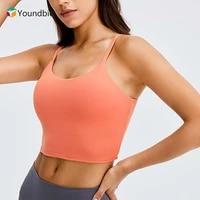 youndbio 2021 new sports women yoga bra fitness gym push up vest running padded open back underwear jogging racerback tank tops