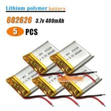 5 stücke 3,7 V 400mAH 602525 602626 PLIB polymer lithium-ion/Li-Ion batterie für SMART UHR GPS