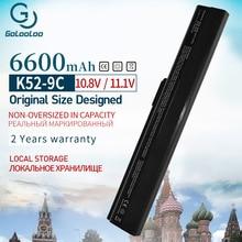 9 Cell Laptop Battery For ASUS A31-B53 A32-K52 A42-K52 A31-K52 A41-K52 A42 A42D A52 A52JB A62  K52J K52JC K42 K52 K52DR A42-K52