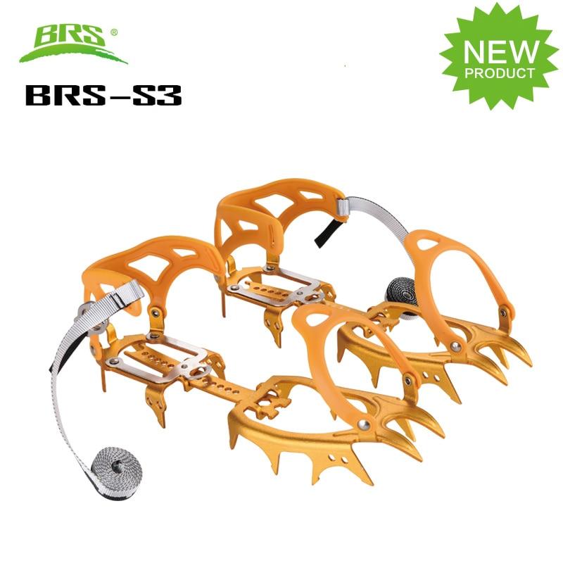 14 مخالب الأسنان الأشرطة الثلوج الخاصة آل سبيكة الجليد القابض في الهواء الطلق تسلق الجبال معدات عدم الانزلاق الأشرطة BRS-S3