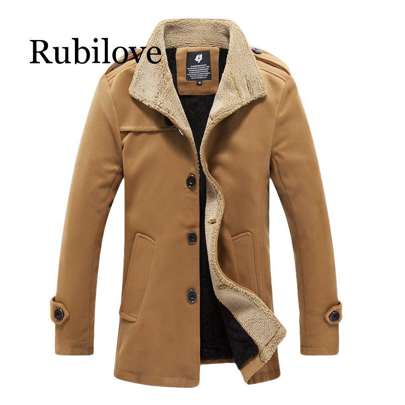Зимнее шерстяное пальто мужские повседневные Базовые Куртки Ветровка размера плюс мужские пальто зима 2019 мужские пальто и куртки размера п...