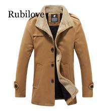 Winter Wool Coat Men Casual Basic Jackets Windbreaker Plus Size Man Coats Winter 2019 Overcoat Mens