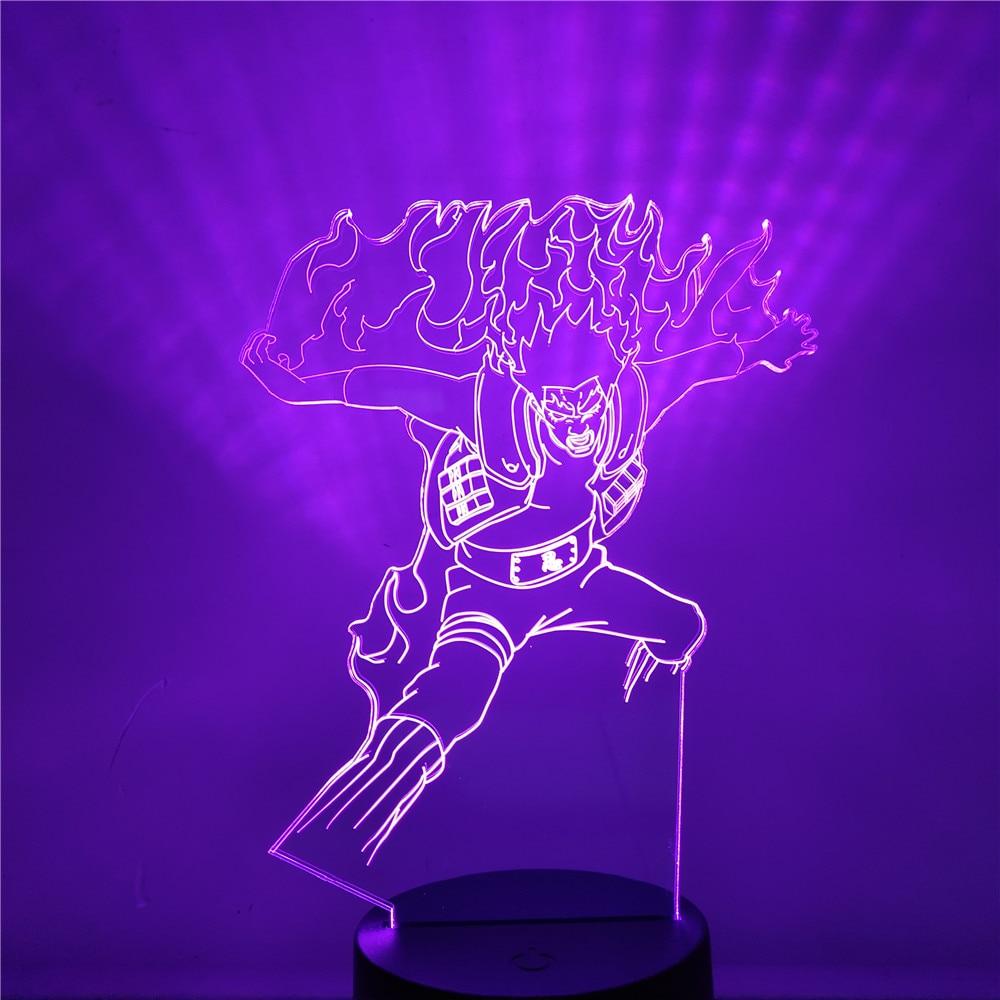 Que tipo de luz de noche LED 3D NARUTO Anime lámpara chico habitación decoración Lampara decoración lámpara Luminaria creativa Decoración