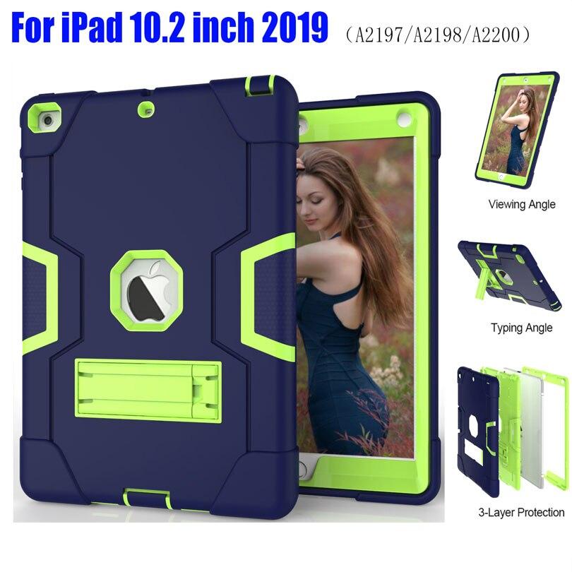 Защитный чехол для iPad 10,2 дюймов 2019 iPad7 сверхпрочный Силиконовый ТПУ + ПК Жесткий Стенд ударопрочный + защита экрана IP71