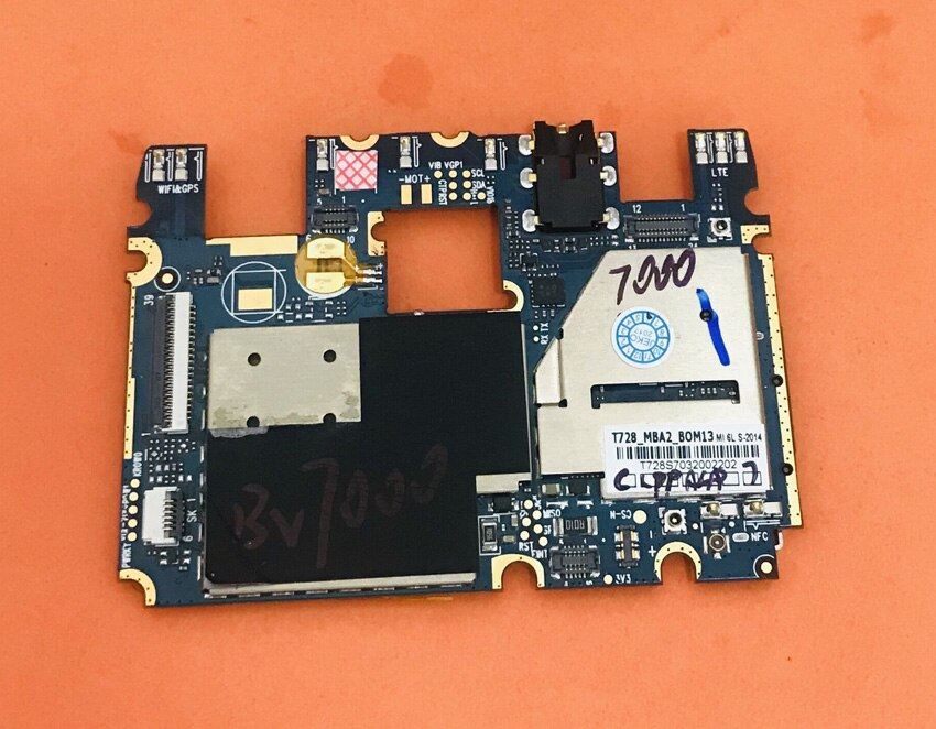 Original mainboard 2G RAM+16G ROM Motherboard for Blackview BV7000 MT6737T Quad Core Free shipping