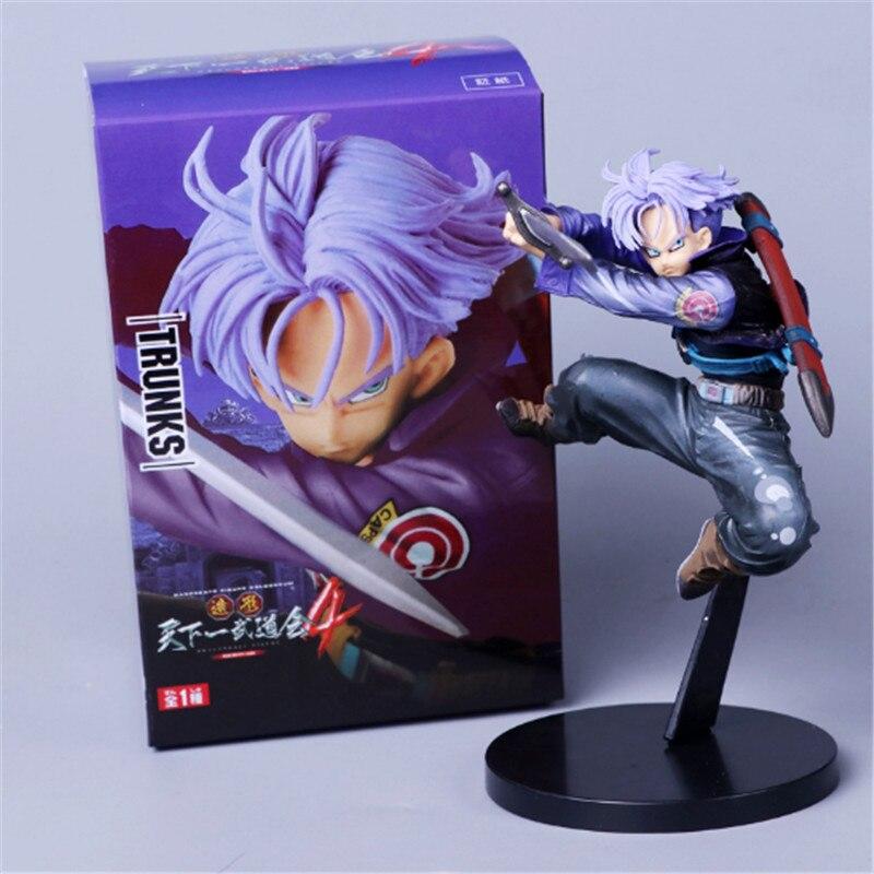 Figuras de acción de Dragon Ball Z, Trunks, Future First Come Up, pelo púrpura, estilo DBZ, Trunks, Super Saiyan Goku