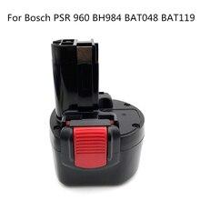 BAT048 9,6 V 2000mAh ni-cd batería de herramientas eléctricas de batería recargable para Bosch PSR 960 BH984 BAT048 BAT119