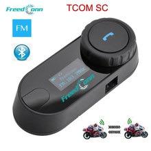 Original FreedConn Aktualisiert LCD bildschirm TCOM-SC 800M BT Bluetooth Motorrad Helm Intercom Sprech Headset + FM Radio