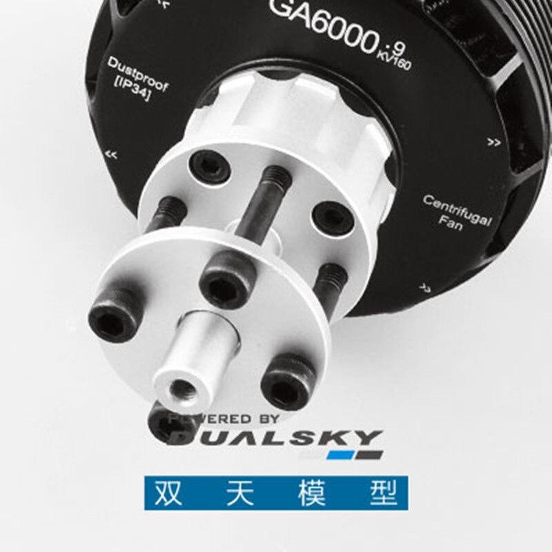 DualSky GA6000 Motor sin escobillas 160KV 180KV para 55-60cc clase 3D RC avión UAV sistemas