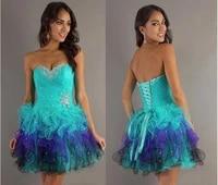 free shipping robe de soiree 2019 new fashion cheap crystal beading tulle vestidos de festa short mini party bridesmaid dresses