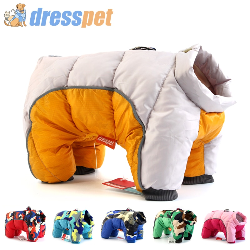 2019 ropa de invierno para perros, chaqueta muy cálidas, abrigo de algodón grueso impermeable para perros pequeños, ropa para mascotas, para cachorros de Bulldog Francés
