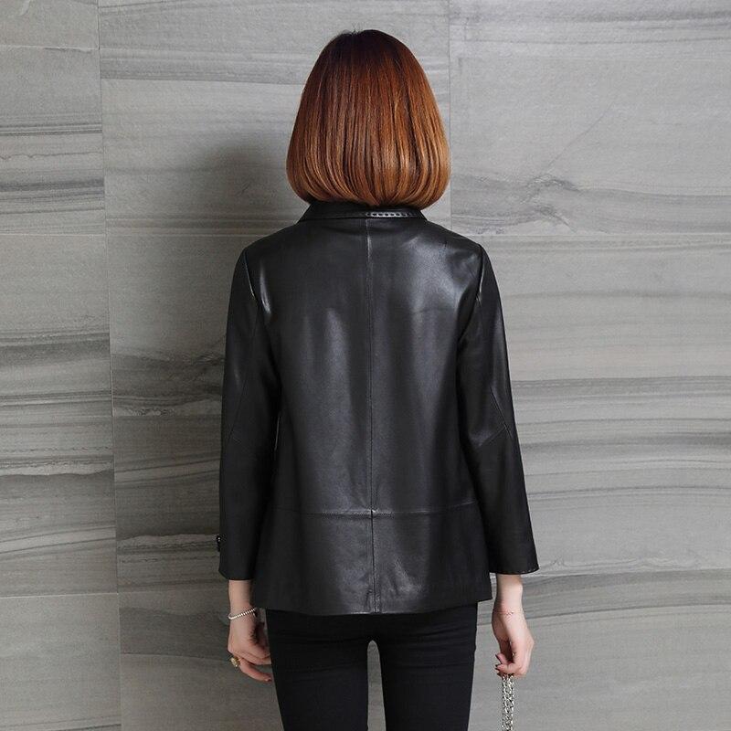 Coats Natural Sheepskin Female Genuine Leather Montone Jacket Women Spring Autumn Warm Clothes Mink Fur Down 2021 LWL15a0