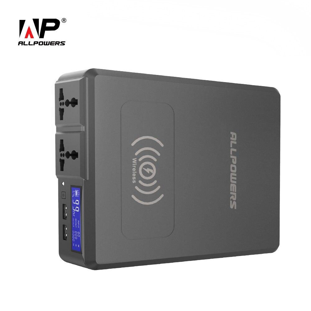 ALLPOWERS Power Bank 154W 41600mAh Super alta capacidad cargador de batería externa generador portátil con AC DC USB inalámbrico
