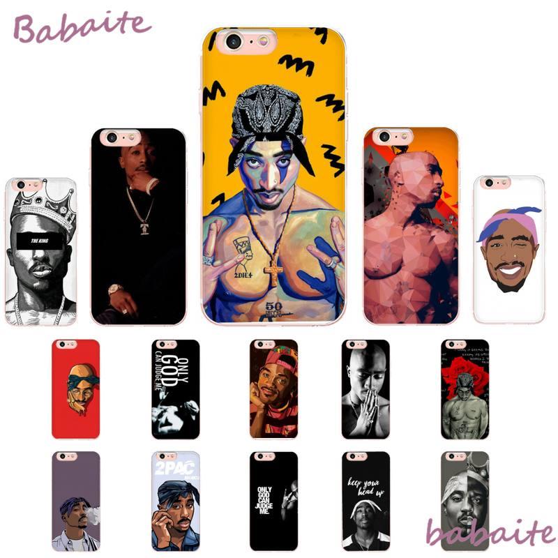 Babaite 2Pac Tupac Amaru Shakur Makaveli DIY pintado Bling carcasa para iPhone8 7 6 6S Plus X XS X MAX 5 5S SE XR 11 11pro promax