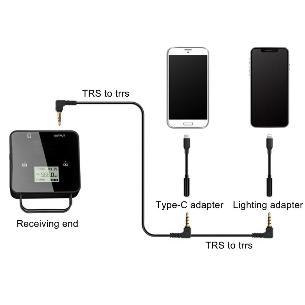 Portable Size FM40 UHF Wireless Microphone Transmitter Receiver Kit Lapel Lav Video Mic For Smartphone DSLR Camera enlarge