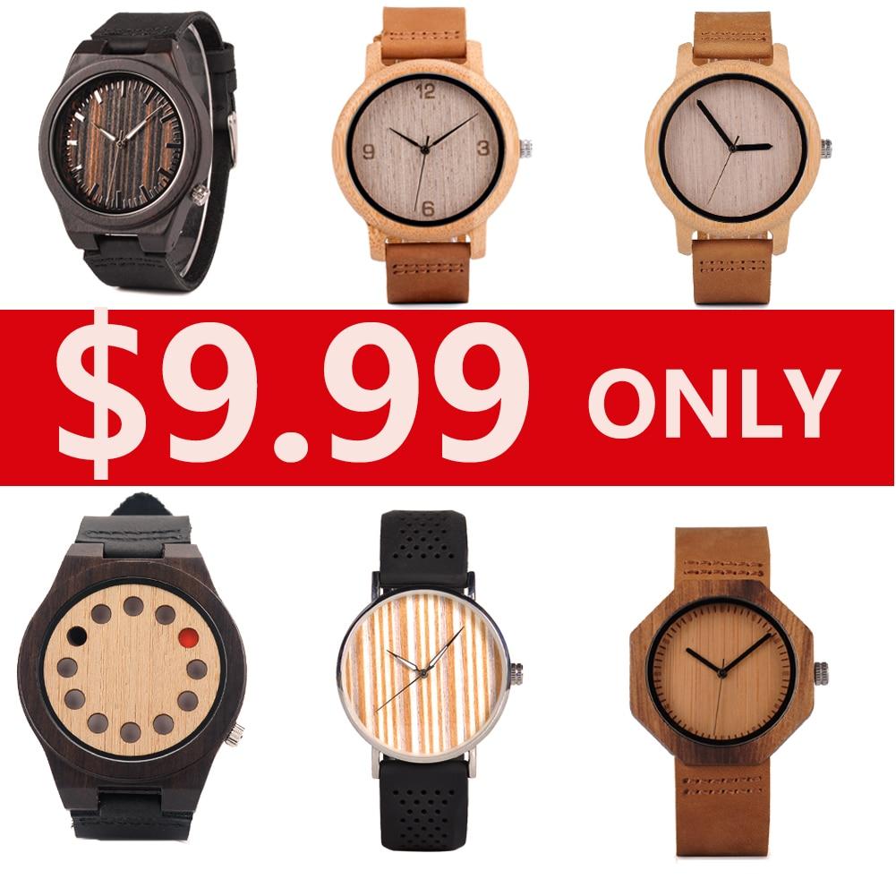 AliExpress - BOBO BIRD relogio masculino Bamboo Watches Mens 2021 Women Leather Belt Wood Quartz Wristwatch Top Brand Clock Gift Dropshipping