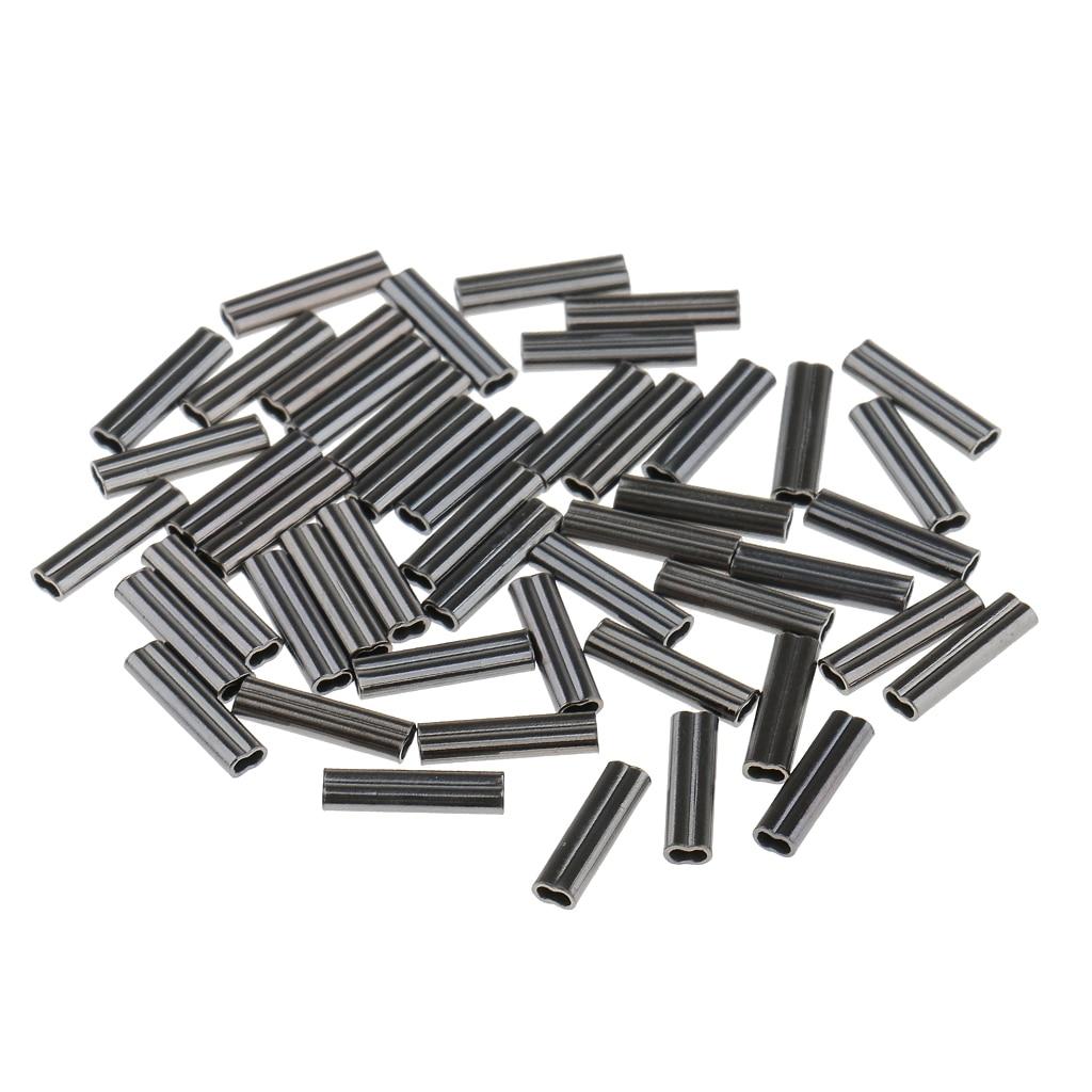 150 Uds. Mangas de doble barril de pesca para la fabricación de aparejos, 0,8mm y 1mm y 1,2mm