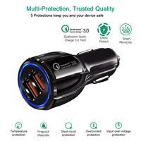 Автомобильное зарядное устройство, Универсальное Автомобильное устройство для быстрой зарядки с портами USB